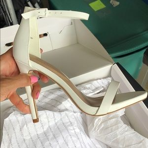 Aldo Shoes - White strappy high heels